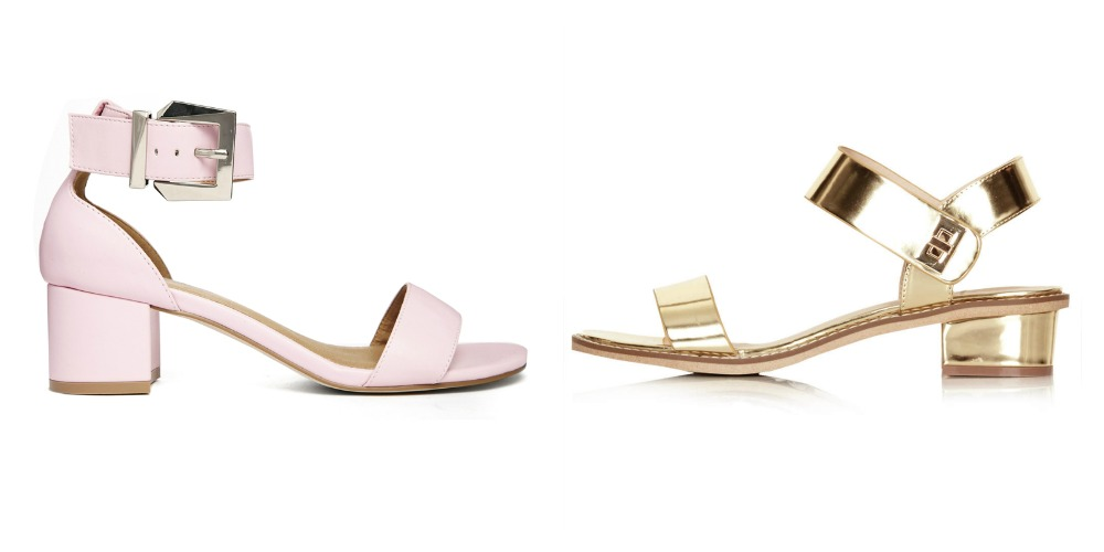 Types of shoes women should own: low-heeled sandals