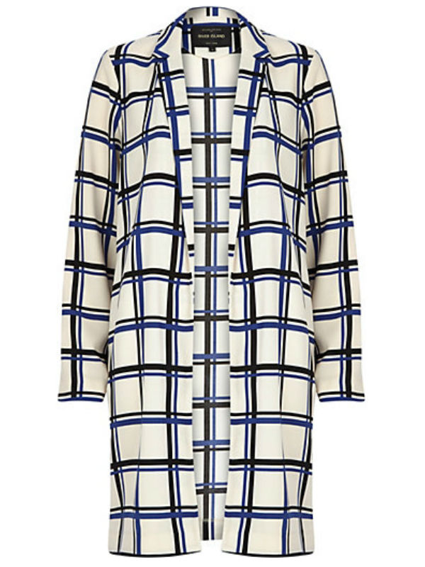 Spring Duster Coats: Checked River Island