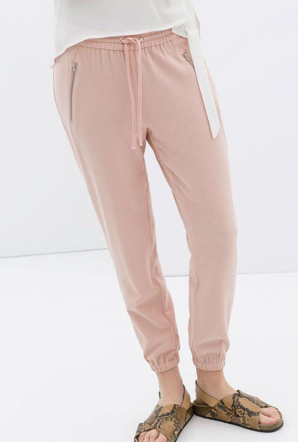 Pink Zara joggers