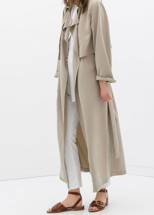 Spring Duster Coats: Zara Long Trench