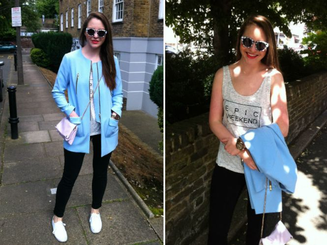 Blue summer coat Zara