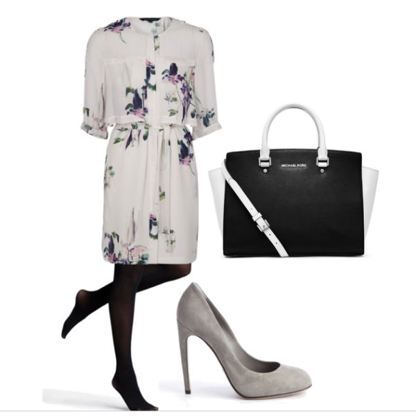 Interview outfit: French Connection floral dress