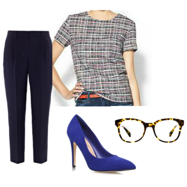 Interview Outfits: tweed blouse
