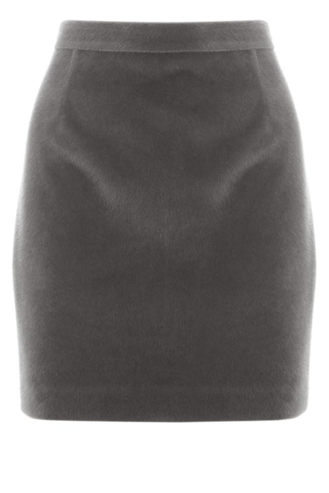 faux fur pencil skirt, Warehouse