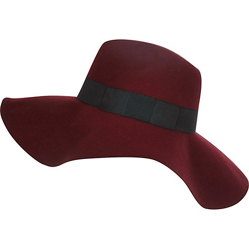 burgundy hat, River Island
