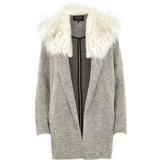 fur collar jacket, River Island
