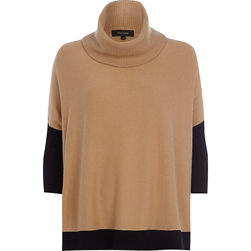camel and black jumper, River Island