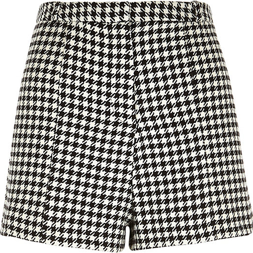 dogtooth shorts, River Island