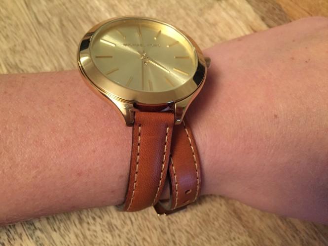 Michael Kors doube wrap leather watch