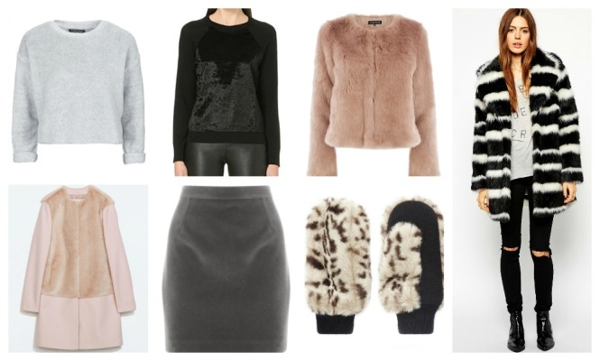 faux fur vests, jackets