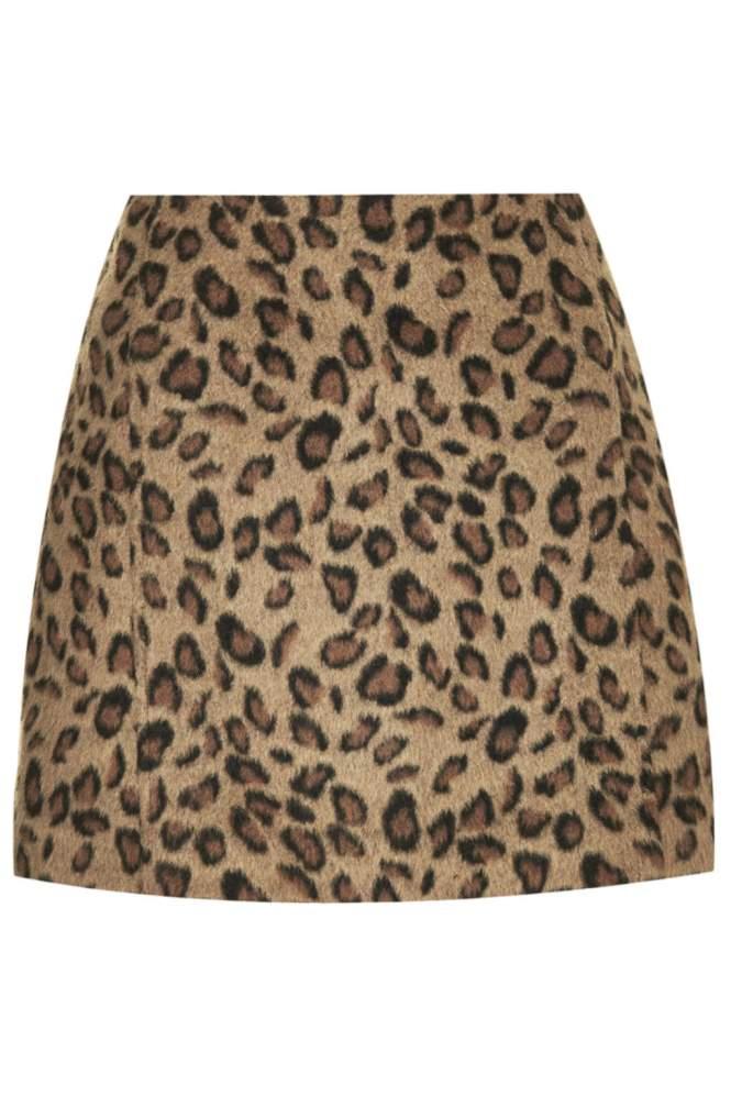 leopard mini skirt Topshop
