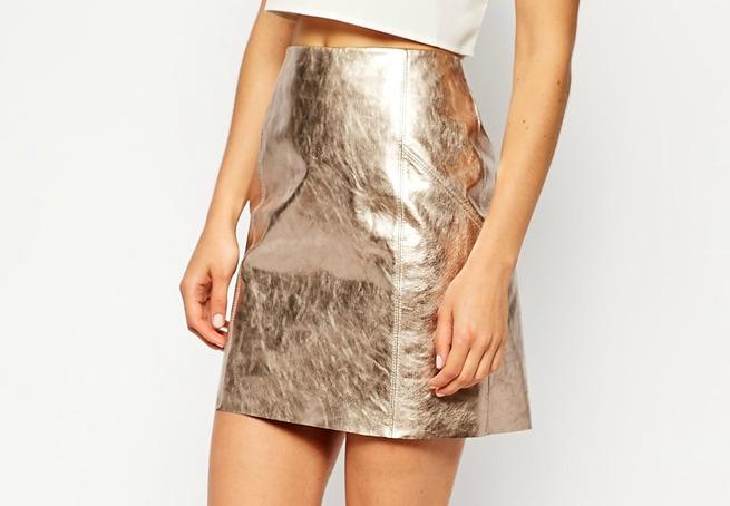 metallic skirt Asos