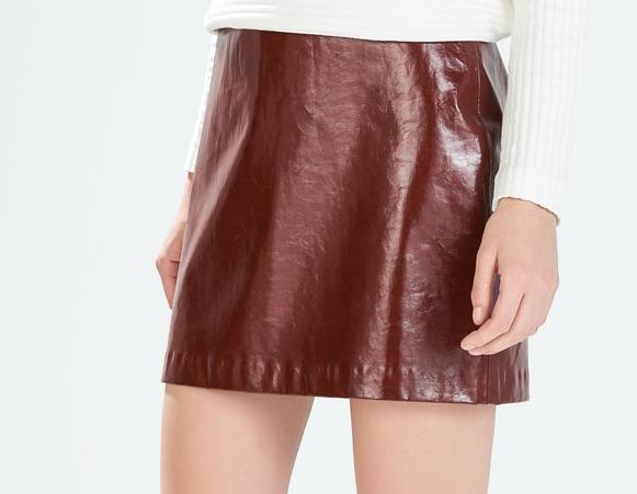 patent skirt Zara