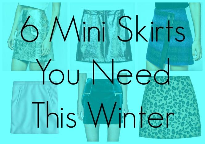 winter mini skirts